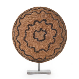 African Makenge Zambian Coiled Hand Woven Wedding Basket For Sale