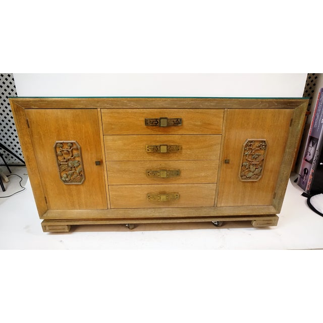 James Mont had a true passion for Asian styles his pieces were bench made and hand crafted this piece was influenced by...