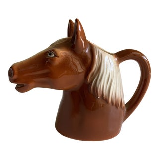 Vintage Petite Horse Pitcher or Bud Vase For Sale