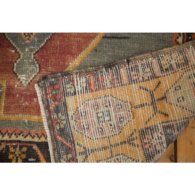 "Textile Vintage Distressed Oushak Rug Runner -3'11"" x 9'2"" For Sale - Image 7 of 11"