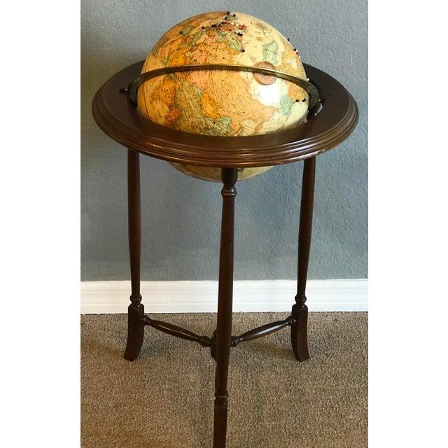 Mahogany Vintage World Globe For Sale - Image 7 of 7