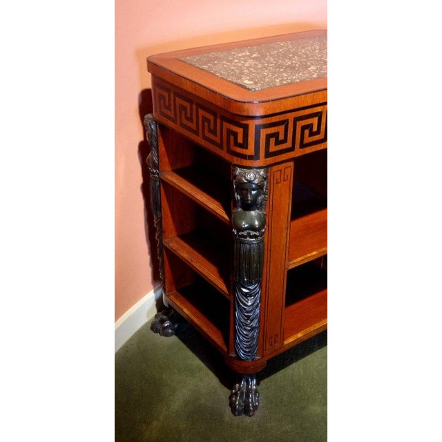 Regency Period Center Table Bookcase For Sale - Image 4 of 6