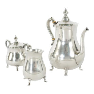 Cartier Sterling Silver Tea / Coffee Service - Set of 3 For Sale