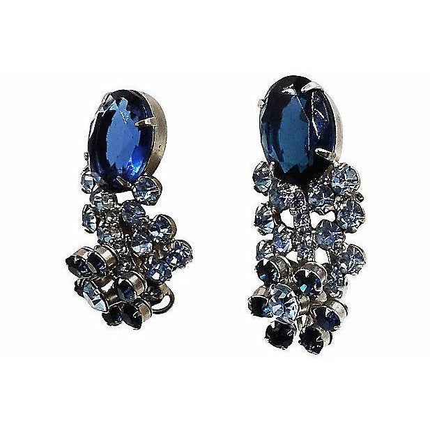 1960s 1960s Delizza & Elster Rhinestone Earrings For Sale - Image 5 of 8