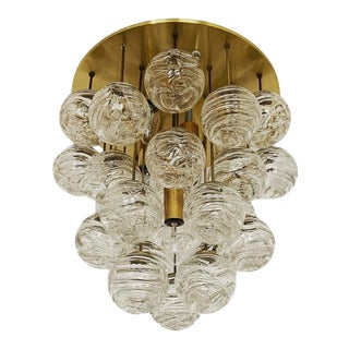 1960s Mid-Century Modern Bubble Murano Glass Flush Lamp by Doria Leuchten For Sale