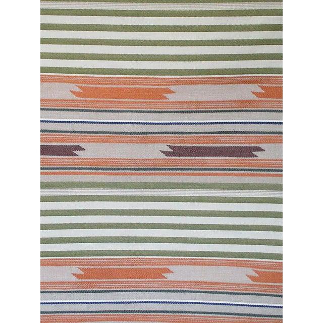 Boho Chic Sample, Scalamandre Cheyenne, Arancio Verde Fabric For Sale - Image 3 of 3