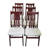 Image of Set of Six Danish Modern Dining Chairs by Farstrup For Sale