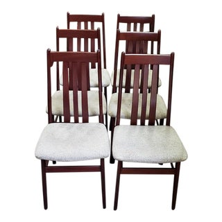 Set of Six Danish Modern Dining Chairs by Farstrup For Sale