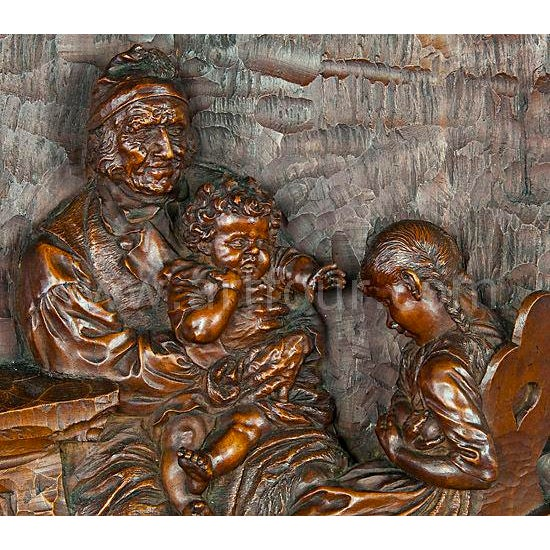 Black Forest Relief Woodcarving By Hermann Steiner Meran 19th Century For Sale - Image 3 of 5