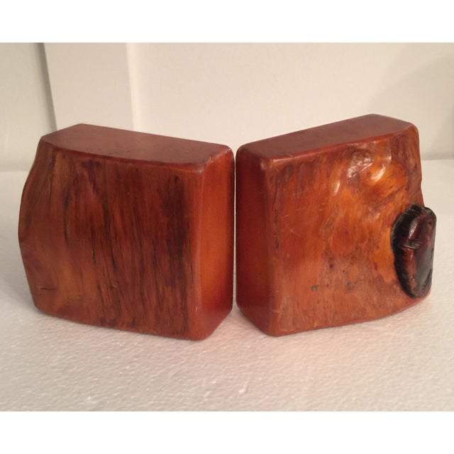 Live Edge Organic Wood Bookends - a Pair For Sale - Image 13 of 13