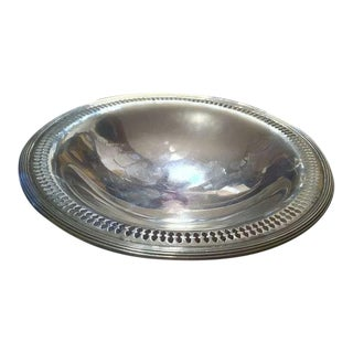 Reed & Barton Sterling Silver Tazza With Pierced Edge For Sale