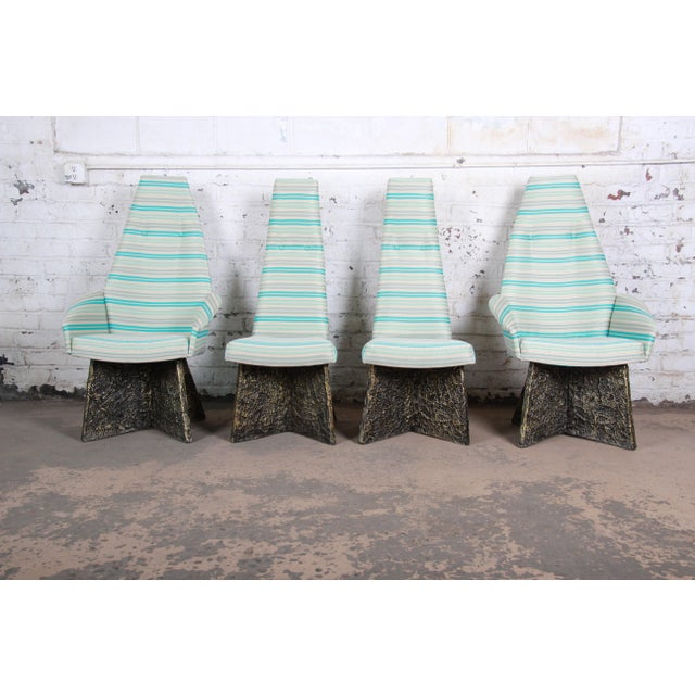 Adrian Pearsall Mid-Century Brutalist High Back Dining Chairs - Set of 4 For Sale - Image 13 of 13
