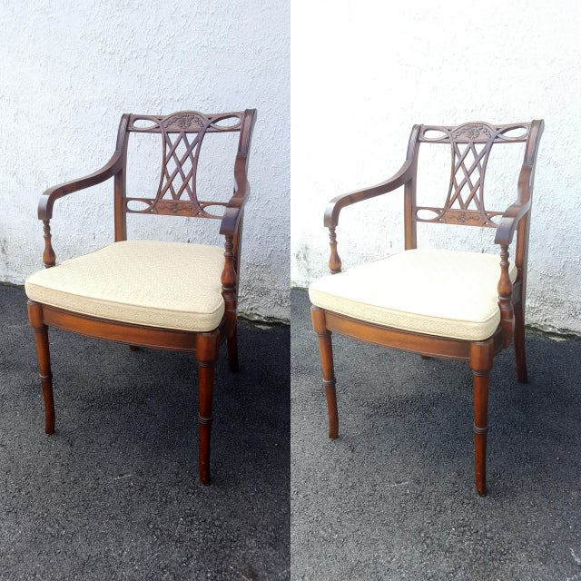 Cane Seat Armchairs - A Pair - Image 2 of 9