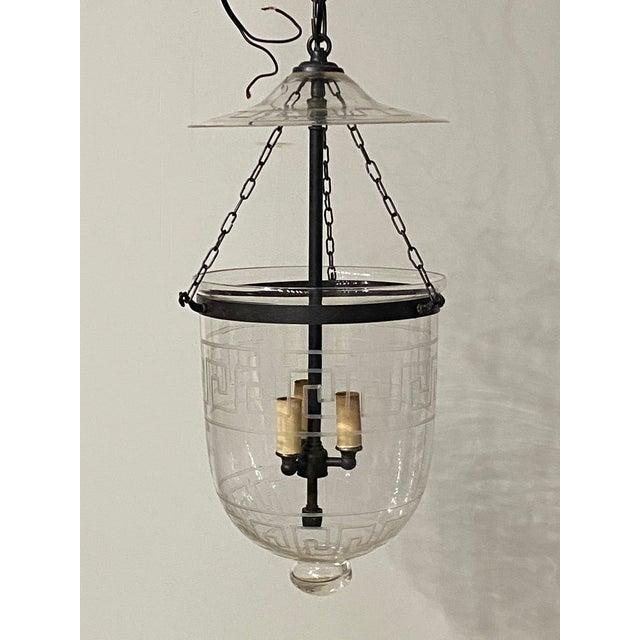 Vintage Smoking Bell Lantern With Greek Key For Sale - Image 12 of 12