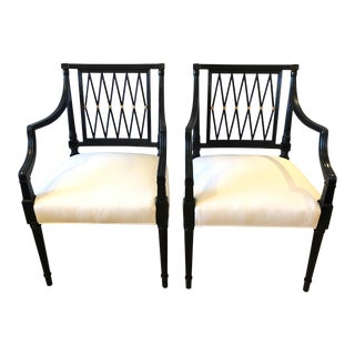 1940s Regency Style Arm Chairs - a Pair For Sale