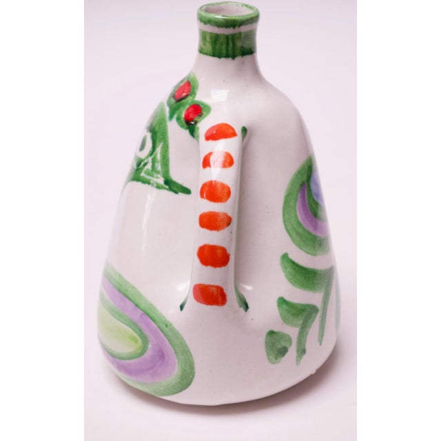 "1970s Hand Painted Italian Ceramic ""Bird"" Pitcher / Wine Decanter by Desimone For Sale - Image 5 of 13"