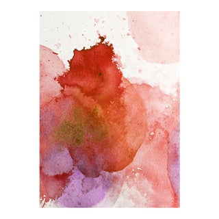 Red Pop Original Art Watercolor Framed Wall Print - Limited Edition For Sale