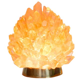"Natural Amber Quartz Lighting - ""Small Liberty"", Demian Quincke For Sale"