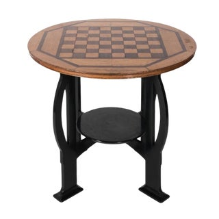 20th Century Art Deco Wooden Game Table For Sale