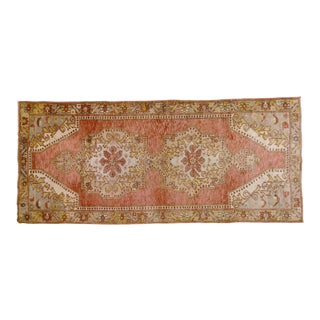 """1950s Traditional Turkish Red Oushak Spun Wool Rug - 4'10""""x11'1"""" For Sale"""