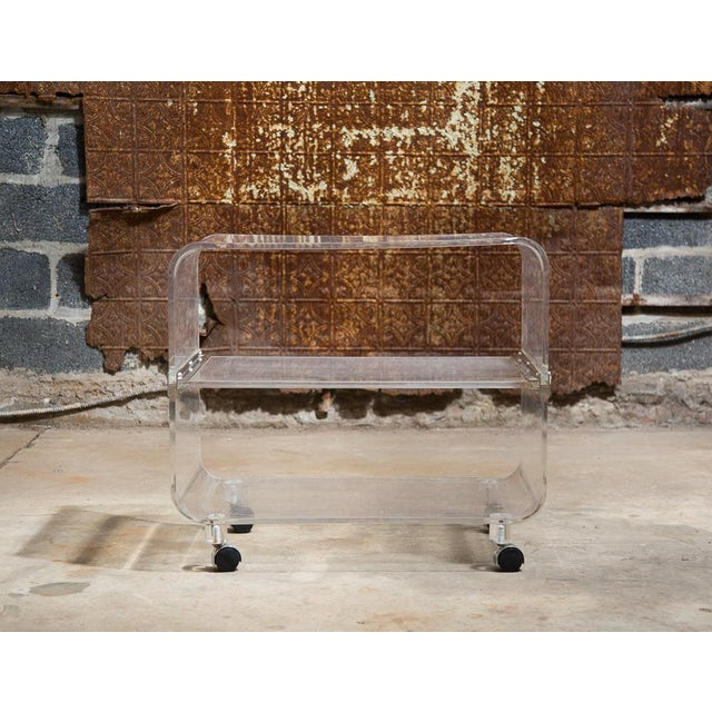 Lucite Bar Cart - Image 3 of 9