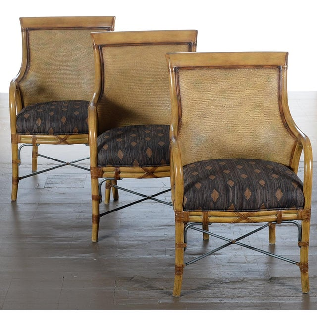 Hollywood Regency McGuire Style Chairs - Set of 6 - Image 3 of 10