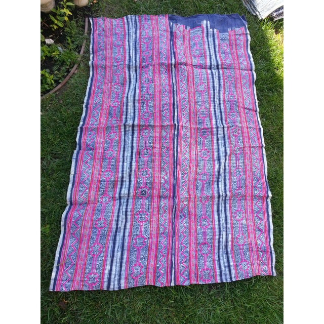 Batik Embroidered Linen Throw - Image 2 of 3