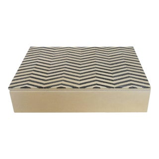 Ivory and Black Shagreen Box Final Clearance Sale For Sale