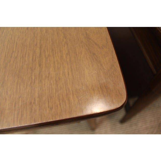 Mid-Century Danish Modern Walnut Side Tables - A Pair - Image 9 of 11