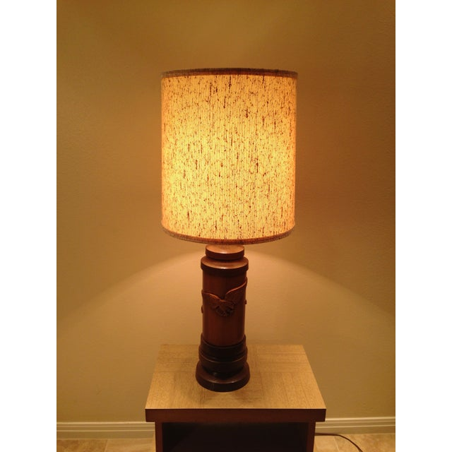 1970s Ceramic Eagle Table Lamp For Sale - Image 5 of 8