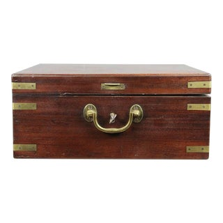 George III Mahogany and Brass Bound Box For Sale