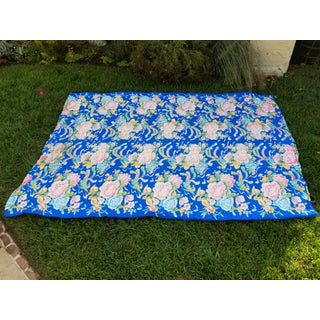 4 Large 1950's Chinese Mattress Cover Fabric Preview