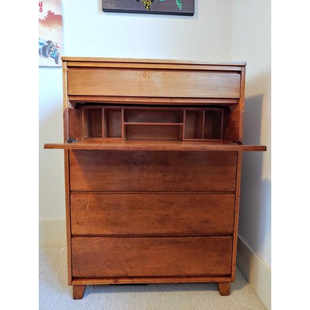 Mid-Century Modern 1950s Conant Ball Modernmates Mid Century Secretary Dresser For Sale - Image 3 of 7