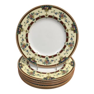 1930s Antique Royal Worcester Orlando China Dinner Plates - Set of 8 For Sale