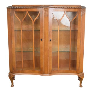 Queen Anne Glass Display Cabinet For Sale