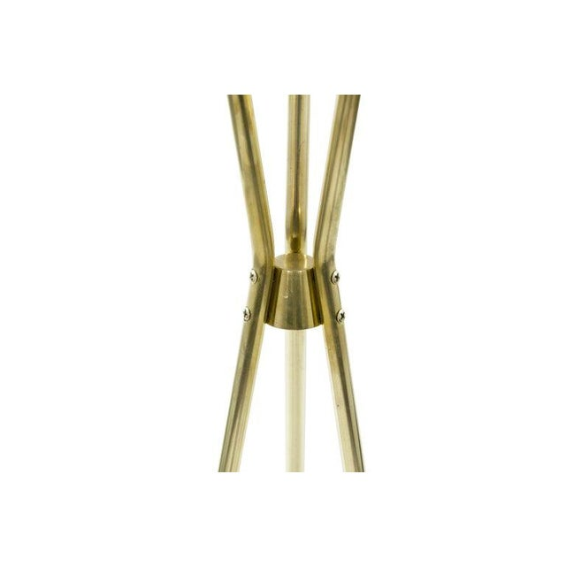 Brass and Walnut Tripod Floor Lamps by Gerald Thurston, 1960s - a Pair For Sale In New York - Image 6 of 11