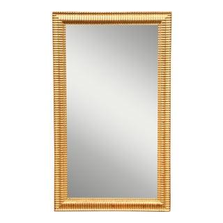19th Century French Louis XVI Carved Giltwood Rectangular or Horizontal Mirror