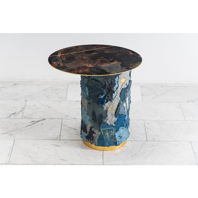 Black Concrete and Steel Occasional Table, Usa, 2019 For Sale - Image 8 of 12