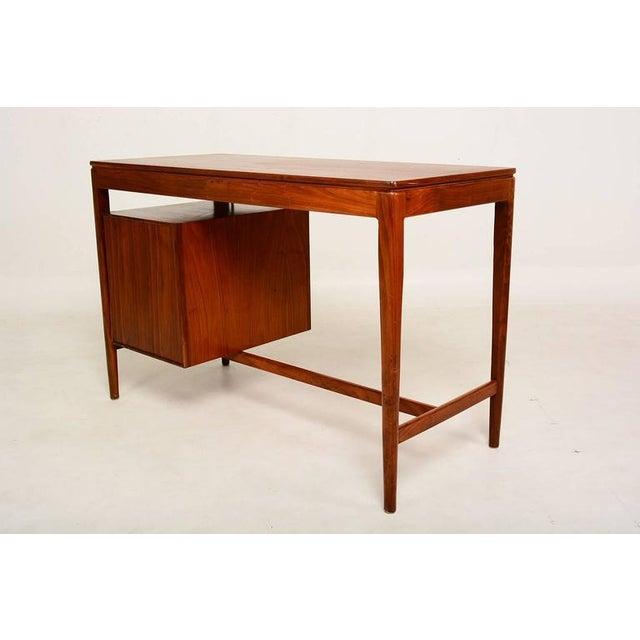 Drexel Mid Century Modern Walnut Desk by Drexel Kipp Stewart For Sale - Image 4 of 9