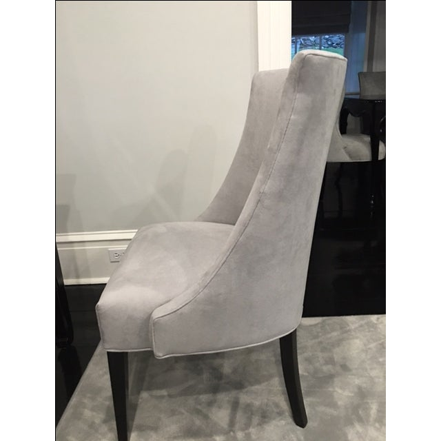 Vintage Chair With Donghia Gray Ultrasuede - Image 4 of 7