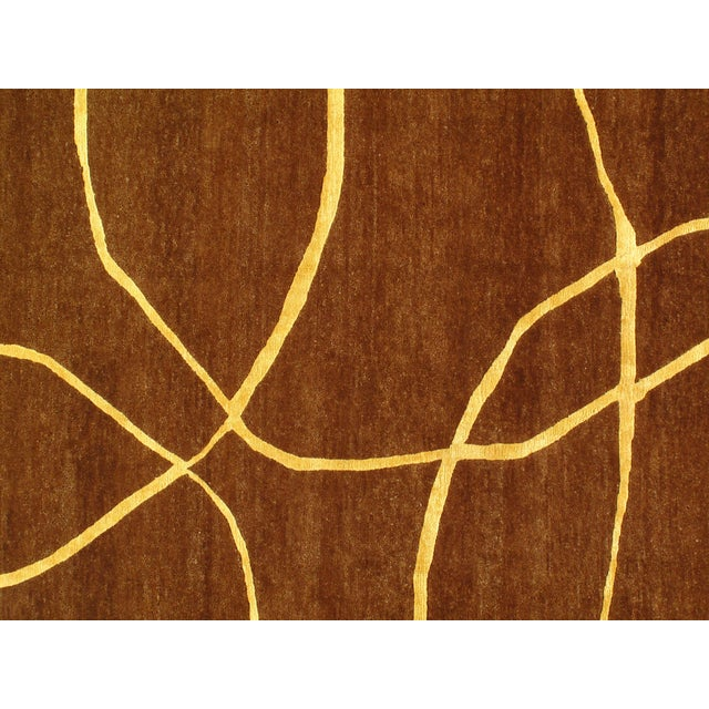 """2010s Pasargad N Y Modern Hand-Knotted Wool Rug - 6' X 9'1"""" For Sale - Image 5 of 6"""