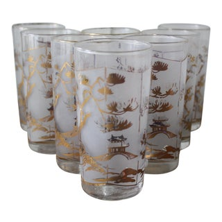 Chinoiserie Style Drinking Glasses - Set of Eight