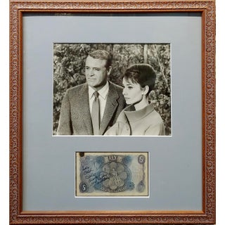 1950s Original Cary Grant & Audrey Hepburn Photograph with Autograph Preview