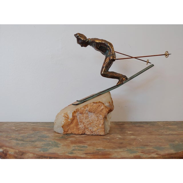 Vintage Curtis Jere Skier Sculpture For Sale - Image 11 of 11