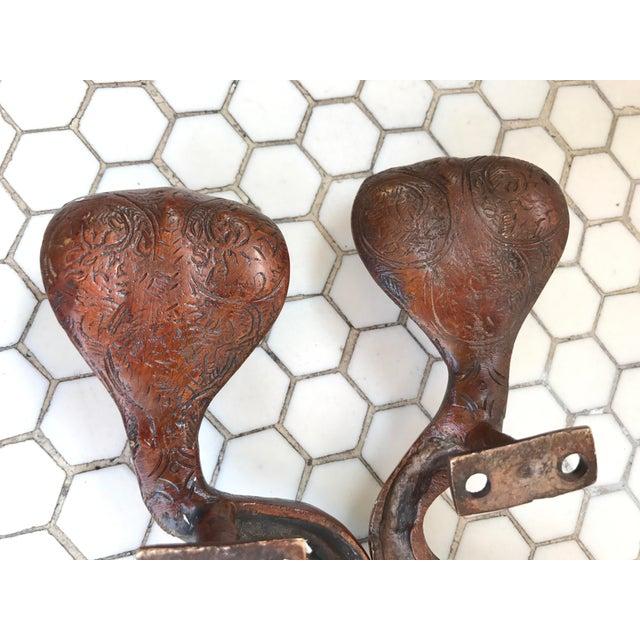 Gold Ombre Brass Cobra Door Handles - A Pair - Image 10 of 10