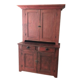Early 1900's Red Stain Cabinet/Storage For Sale