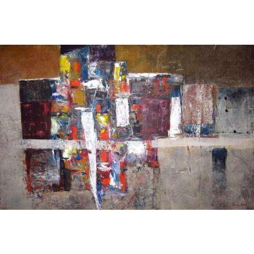 Stanley Bate, Exodus Painting, Circa 1960 For Sale In New York - Image 6 of 6