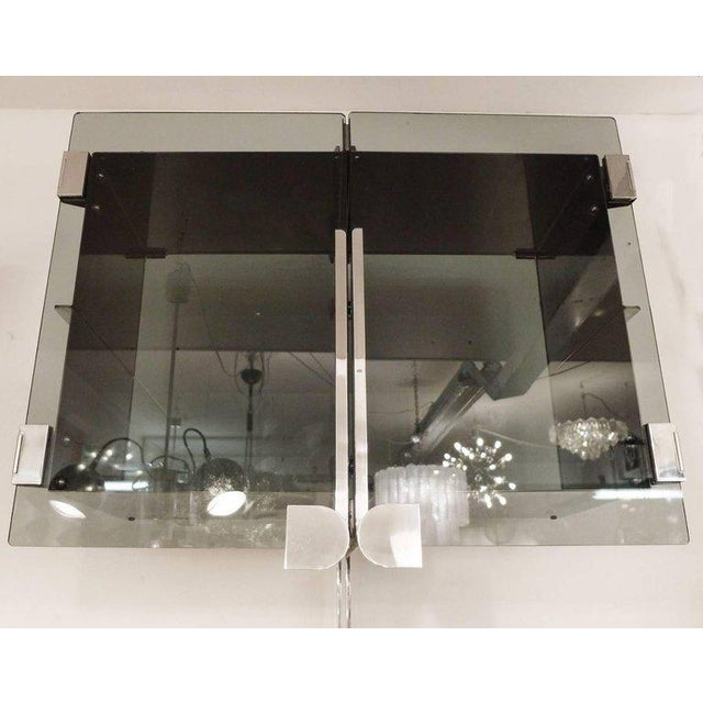 Two Vittorio Introini chrome-plated modulable shelving systems for Saporiti, Italy, 1969. Price per item. ! The asking...