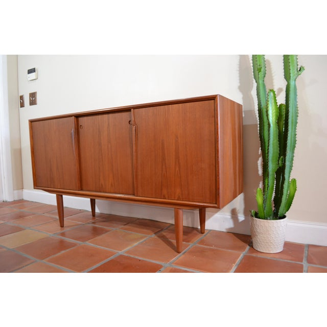 Gunni Omann Mid-Century Danish Teak Credenza For Sale - Image 9 of 10