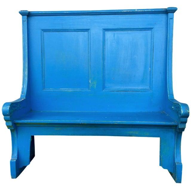 Blue Bohemian Deacon's Bench - Image 1 of 6
